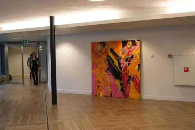 Expositie in het amstelgebouw robert pennekamp - Entree schilderij ...