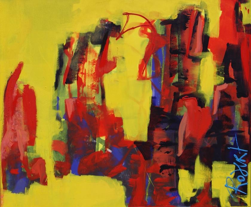 samen, verbonden, 120 * 100 cm, olieverf op linnen, Robert Pennekamp