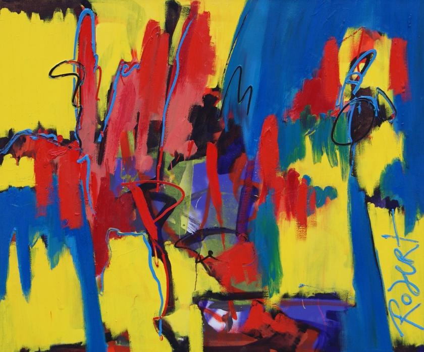 Alles bereikt, olieverf op doek, schilderij, 120 * 100 cm, Robert Pennekamp.