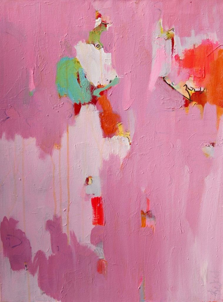 schilderij, help, blauw, zee, figuratief, abstract, expressief, beeld, visueel, galerie, robert, pennekamp, symbool, best, figuur, wammes, overgeschilderd, beter, goed, 707, roze